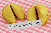 Have a sweet day card with fortune cookies