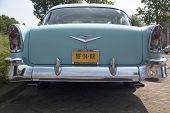 Vintage blue oldtimer car