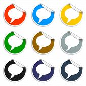 Chat Flat Icon . Vector Eps 10.