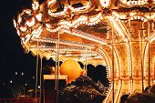 Beautiful Carousel At Night