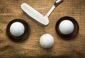 Golf Balls And Putter