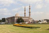 SHARJAH, UAE - DECEMBER 23, 2014: Photo of Mosque Al Emam Ahmad Bin Hanbal.