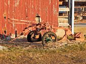 a old rusty plow