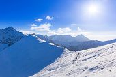 picture of snowy hill  - Tatra mountains in snowy winter time - JPG