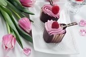 Valentine's Day Heart Shaped Chocolate Cups