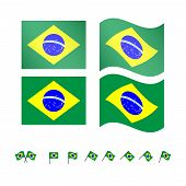 Brazil Flags Eps10