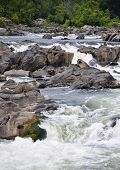 picture of rough-water  - Water among rocks - JPG