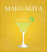 Drinks List Margarita With Golden Background
