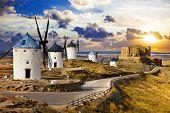 windmills of Don Quixote. Cosuegra, Spain