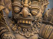 picture of immoral  - Gardian statue at the Bali temple entrance Indonesia - JPG