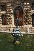 Fountain in Castle of the Kings, Seville.