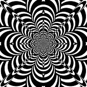 picture of hypnotizing  - Black and White Abstract Hypnotic Background - JPG