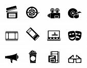 Silhouette Movie theatre and cinema icons