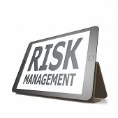 Tablet With Risk Management Word