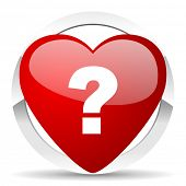 question mark valentine icon ask sign