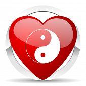ying yang valentine icon