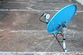 Blue Dish Satellite Receiver