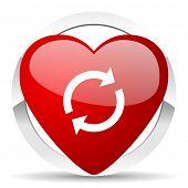 reload valentine icon refresh sign