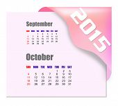 October 2015 calendar with past month series