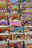 News Stand With Magazines