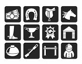 Silhouette Horse Racing and gambling Icons