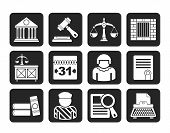 Silhouette Justice and Judicial System icons