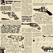 Imitation of retro newspaper