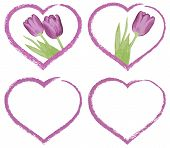 grunge hearts for valentines or wedding day