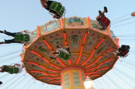 stock photo of merry-go-round  - To have a ride on the merry - JPG