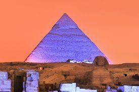 stock photo of triangular pyramids  - CAIRO EGYPT  - JPG