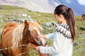 picture of iceland farm  - Icelandic horses  - JPG
