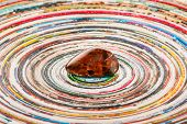 image of tigers-eye  - Piece of pietersite originating from Namibia Africa on colorful surface - JPG