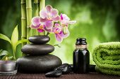 picture of stone-therapy  - spa concept zen basalt stones  - JPG