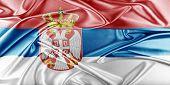stock photo of serbia  - Serbia Flag - JPG