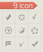 stock photo of confirmation  - Vector confirm icons set on grey background - JPG