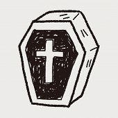 picture of coffin  - Coffin Doodle - JPG