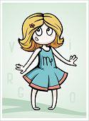 foto of virgo  - zodiac sign baby birth virgo vector illustration - JPG