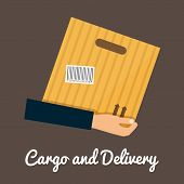 pic of shipping receiving  - Cargo and delivery hands holding cardbox - JPG