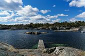 picture of puffy  - Spring view of the small bay in the south of Norway - JPG
