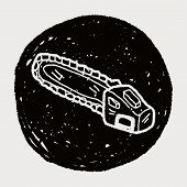 image of chainsaw  - Chainsaw Doodle - JPG