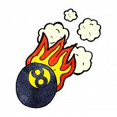 picture of pool ball  - cartoon flaming pool ball - JPG