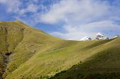 picture of snowy hill  - snowy mountains in the Ordesa National Park - JPG