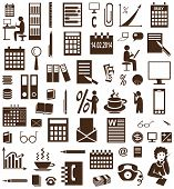 pic of secretary  - brown icons on white background accountant and secretary - JPG