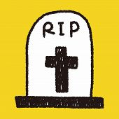 picture of drawing  - Grave Doodle Drawing - JPG