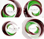image of slogan  - Vector green swirl line abstract background - JPG