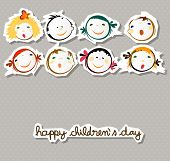 pic of animated cartoon  - happy children day  - JPG