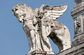 picture of winged-horse  - Stone facade of the Milan - JPG