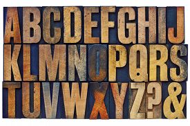 image of ampersand  - 26 letters of English alphabet - JPG