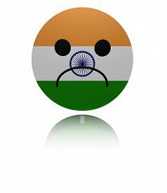 foto of saddening  - India sad icon with reflection illustration - JPG