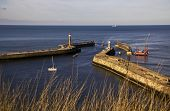 Autumn Afternoon At Whitby Harbour